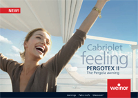 Weinor PergoTex II Brochure