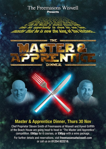 The Master & Apprentice Dinner SOLD OUT