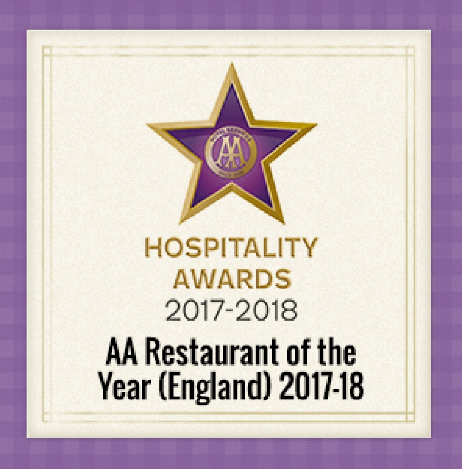 The Freemasons at Wiswell is named  AA Restaurant of the Year for England!